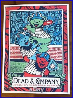 Dead And Company Wrigley Field Chicago Poster Dead & Co Print grateful shirt pin