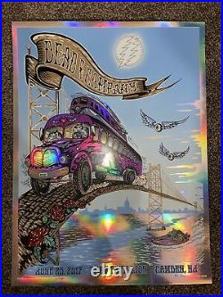 Dead & Co Concert Foil Poster 6/25/17 BB&T Camden NJ Signed By Mike DuBois