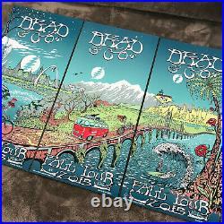 Dead & Co. Fall Tour 2015 Poster Triptych (3 PARTS) M. DuBois (of/1000)