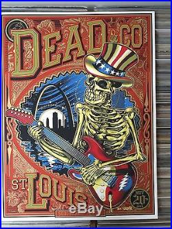 Dead & Co. Grateful Dead Official Concert Poster signed by Artist St Louis 2015