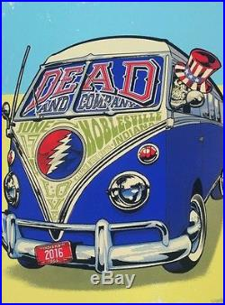 Volkswagen Mt Pleasant >> Dead & Co Limited Edition Concert Poster Klipsch Noblesville Indiana 6/17/16