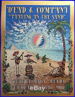 Dead & Co. Riviera Maya 2018 Poster, Playin in the Sand Mike Dubois LIMITED ED