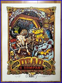 Dead & Company 07/09 2017 Boulder, CO Poster Aj Masthay 39/50 Doodled Poster