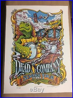 Dead & Company 2017 Summer Tour VIP Poster by AJ Masthay. Signed and numbered