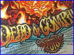 Dead Company 2018 SUMMER TOUR Poster Print S/N SIGNED AJ MASTHAY LTD SE #/3500