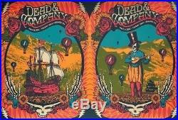 Dead & Company 2018 Summer Tour Poster Boulder Folsom 7/13/18 & 7/14/18 168/200