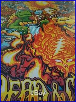 Dead & Company 2018 Summer Tour Poster Stain Glass Holographic Foil Edition