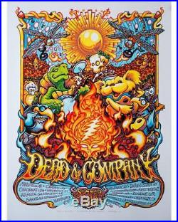 Dead & Company 2018 Tour Poster By AJ Masthay John Mayer And Bob Weir Grateful