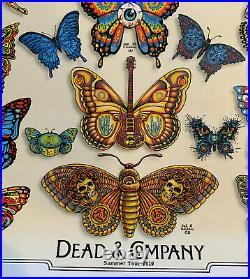 Dead & Company 2019 Summer Concert Vip Tour Poster, Emek Butterfly Grateful Dead