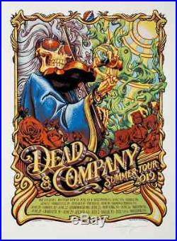 Dead & Company 2019 Summer Tour Poster By AJ Masthay Grateful Dead And Bob Weir
