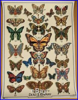 Dead & Company 2019 VIP Tour poster BUTTERFLIES by EMEK numbered