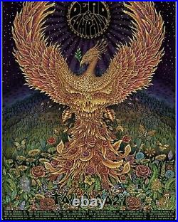 Dead & Company 2021 VIP Silk Screen Poster by EMEK and laminated tour ticket