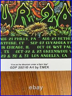 Dead & Company 2021 signed Limited Edition Silkscreen tour poster EMEK #2859
