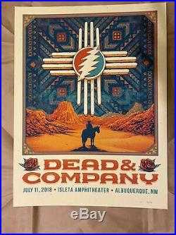 Dead & Company Albuquerque 2018 Poster Mint Condition & Stored Flat