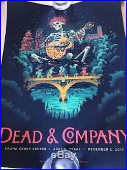 Dead & Company Austin Poster 12/2/17 By Shawn Ryan Bob Weir And John Mayer