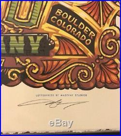 Dead & Company Boulder 17 Poster Night 2 AJ Masthay 373/650