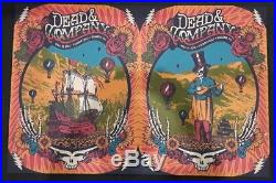 Dead & Company Boulder Poster Set July 13 & 14, 2018 Justin Helton And Bob Weir