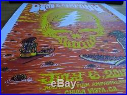 Dead & Company Chula Vista 2018 Poster #'d 337/550 San Diego