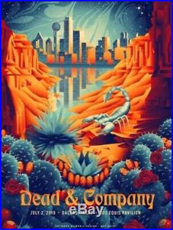 Dead & Company Dallas, Tx. 2019 Official Poster By Shawn Ryan and Bob Weir