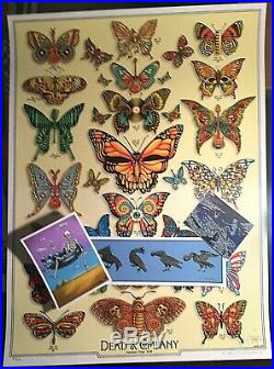 Dead & Company EMEK Poster 2019 Butterflies AE #/200 Signed & Doodled + Extra