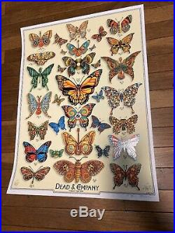 Dead & Company EMEK Poster Butterflies AE #/200 Signed & Doodled Mint Sold Out