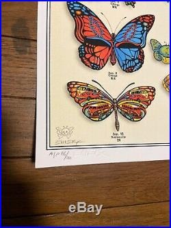 Dead & Company EMEK Poster Butterflies AP #/100 Signed & Doodled Mint Sold Out