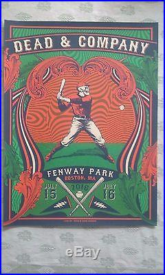 Dead & Company Fenway Poster signed and numbered Justin Helton GD50 boston 2016