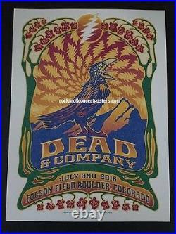 Dead & Company Grateful Dead Boulder Concert Poster July 2nd 2016 Mint #ed
