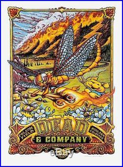 Dead & Company June 10th 2017 N2 Boulder Colorado Poster Aj Masthay Mint Low#
