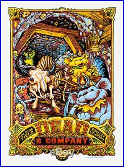 Dead & Company June 9th 2017 Boulder Colorado Poster S/n Aj Masthay 1st Ed Mint