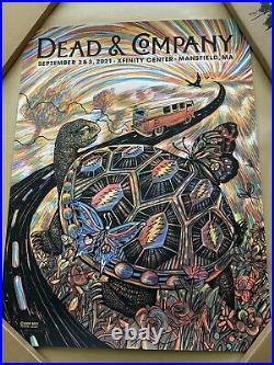 Dead & Company Mansfield Poster Xfinity Center 2021 Zeb Love S&N A/P #55/85