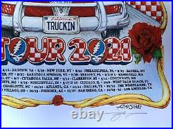 Dead & Company Poster 2021 concert tour aj masthay limited edition