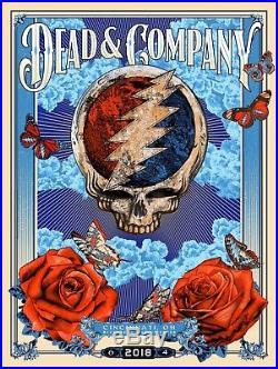 Dead & Company Poster 6-4-18 Cincinnati And Riverbend Music Center