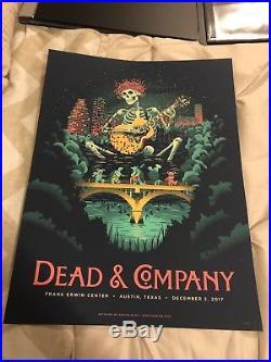 Dead & Company Poster Austin Texas 12/2/2017 Frank Erwin Center