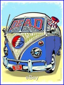 Dead & Company Poster Deer Creek Klipsch 6/17/16 Dead and Company Grateful Dead