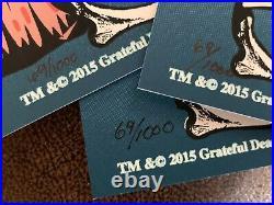 Dead & Company Poster Fall Tour 2015 #69 Triptych Cut Grateful Dead Phish Dubois