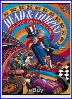 Dead & Company Poster Print 6-6-18 Noblesville IN Deer Creek Ruoff Music Center