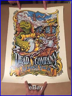 Dead & Company Poster Wharf Rat Summer Tour 2017 VIP Grateful Dead And Company