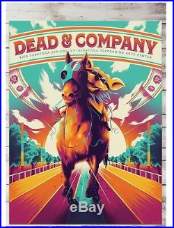 Dead & Company Saratoga SPAC 2019 Official Poster Grateful Dead And Bob Weir