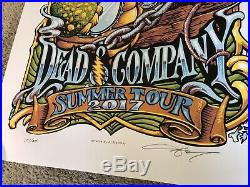 Dead & Company Summer 2017 Tour Poster by AJ Masthay signed and numbered