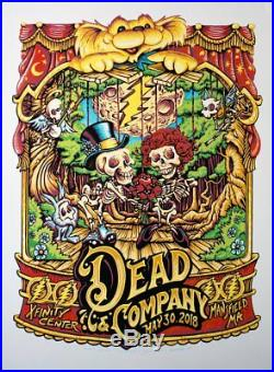 Dead & Company Summer Tour 2018 Mansfield, MA 5/30/18 Show Poster By Aj Masthay