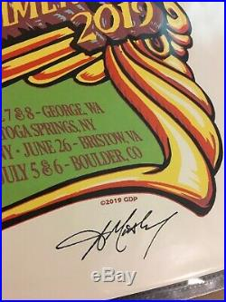 Dead & Company Summer Tour 2019 Poster AJ Masthay Signed & Numbered Grateful