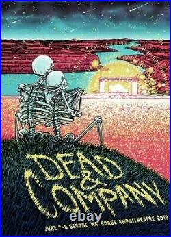 Dead & Company The Gorge 2019 Official Poster Grateful Dead And Bob Weir