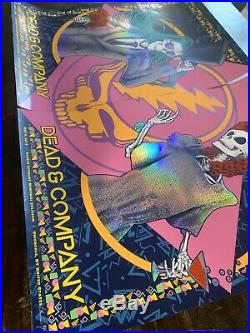 Dead & Company VIP Poster Print Diptych Set Of 2 Nassau NY 2019 FOIL Signed X500