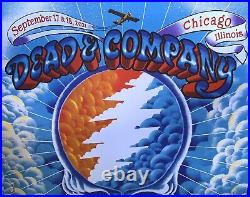Dead & Company Wrigley field Poster 2021 chicago concerts james flames cubs