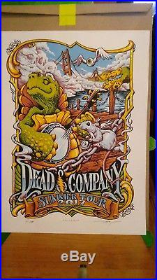 Dead & Company litho VIP poster signed by AJ Masthay & USB full concert 2017