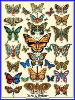 Dead and Company'19 Butterfly Poster ARTIST EDITION S/N xx/200 Doodled by EMEK