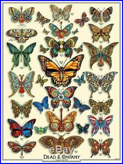 Dead and Company'19 Butterfly Poster / Numbered & Signed 7854/9050