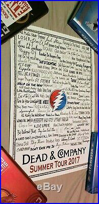 Dead and Company 2017 Summer Tour Song Poster (only 300 printed) (#192)