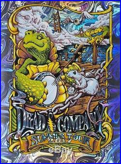 Dead and & Company 2017 Tour VIP Oil Slick Foil Variant Poster Masthay S/N X/25